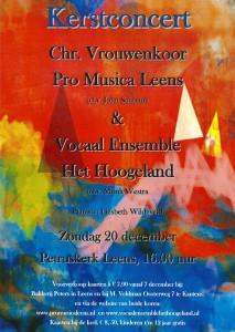Kerstconcert poster